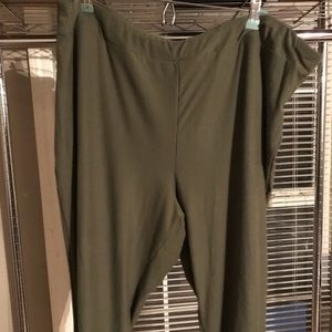 Terra Sky Olive Green Leggings